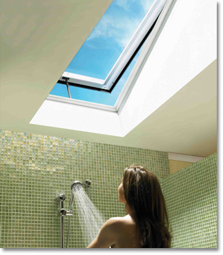 skylight bathroom velux